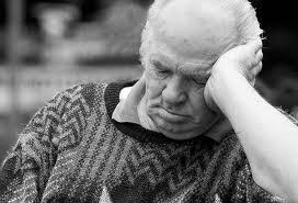 slumbering old man