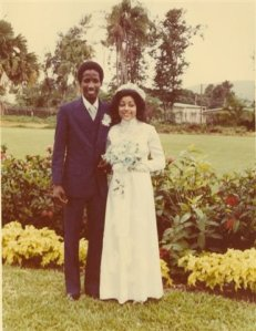 My parents on their wedding day, not too long before they moved to the U.S.